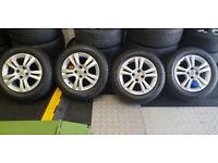 Vauxhall Genuine 15 alloy wheels + 4 x tyres 185 65 15