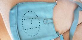 PETROL BLUE CALF SKIN BAG