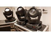 3 x Martin Mac 300, Moving Head Wash Lights with 2 x Dual Flightcases for Stage \ DJ \ Theatre