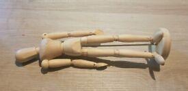 wooden mannequin 12 inch
