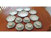 RARE VINTAGE EDWARDIAN PARAGON CHINA CIRCA 1904 19 PEICE TEA SET PATTERN 689