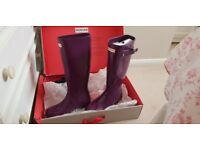 Hunter Wellies Bright Plum size 5 New Condition 65ono