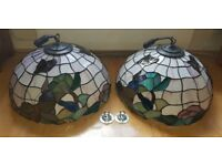 Tiffany Ceiling Lamp Shades pair! Excellent condition - FOR SALE!