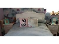 Shabby Chic double bed for sale with mattress