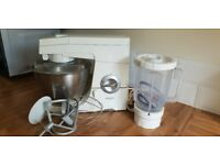 Kenwood food mixer with attachments and blender