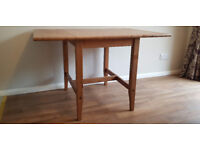 Solid Wood Drop Leaf Dining Table 780mm x 600-1200mm