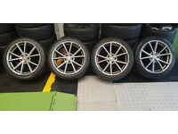 Audi VW Skoda Mercedes 18 alloy wheels + 4 x tyres 245 40 18