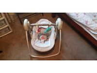 Bright Starts Musical Swing Baby Chair Seat