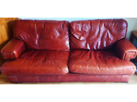 3 Seater Leather G Plan Sofa