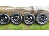 "VAUXHALL MOKKA ( WINTER ) WHEELS AND TYRES 16"". Condition is ""Used""."