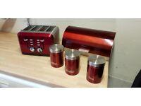 Kitchen storage and toaster