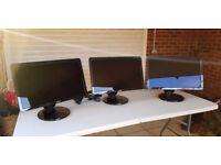 """Dell SP2309W, 23"""" Full HD Widescreen Monitors - TRIO."""