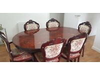 Beautiful brown dinning table