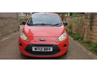 2012 Ford Ka 1.2 Studio. 3 door hatchback low mileage reliable cheap