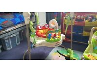 Rainforest jumperoo, rocker and inflatable baby ring