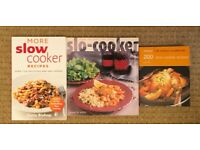 SLOW COOKER Recipe books X 3