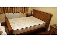 Oak Bed (double) & bedroom furniture set