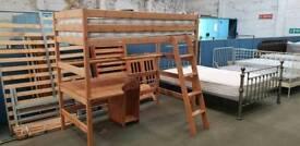 Wooden high sleeper