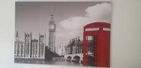 Huge modern london canvas
