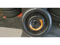 FIAT 15 SPACE SAVER SPARE WHEEL & TYRE T125 80 15 Pirelli