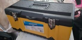 silverline tool box filled with tools and accessories