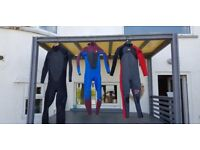 Men and boys summer wetsuits