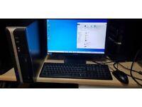 "Cheap I3-2100 Desktop PC, 19"" monitor, 4gb ram, 320gb HDD, Windows 10"