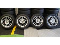 Ford Volvo Tean Dynamics Motorsport 16 alloy wheels + 4 x tyres 205 55 R 16