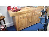Mango solid wood side table / dresser