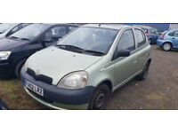 TOYOTA YARIS 1.0 PART EX CLEARENCE, BODY NOT THE BEST, CHEAP RUNABOUT CAR
