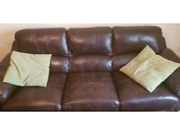 2 an 3 seater leather sofa