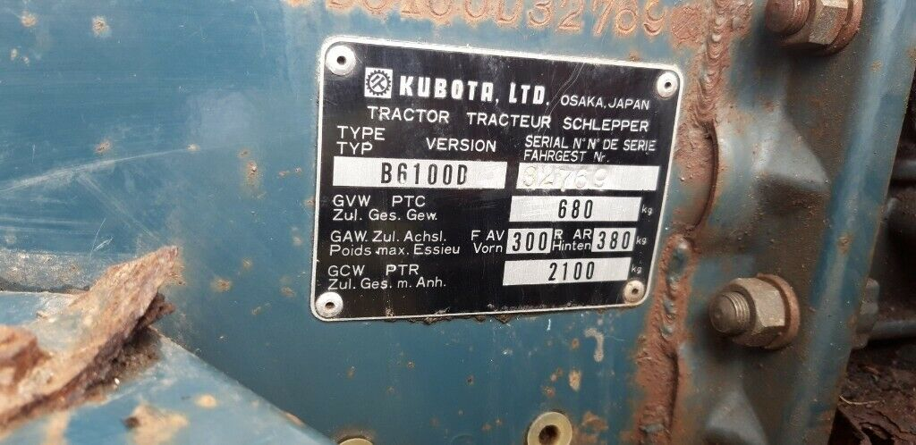 Kubota B6100 compact tractor with front loader | in Salisbury, Wiltshire |  Gumtree
