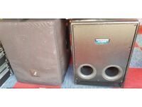 Mackie SRS1500 Active Subwoofer x 2 in pretty good condition