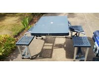 Tent, extra front extension, footprint, trailer, gas bottle, camping gear, all very good condition