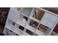 16 cube ikea kallax storage unit