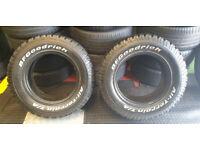 235 70 16 2 x tyres BF Goodrich All -Terrain All Seasons