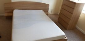 Two double bed + memory foam mattres