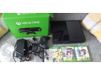 xbox one full set up and 3 games read the rest of discription