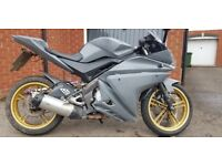 YZF R125 12 months MOT, Cat C fully repaired, lots of work done.
