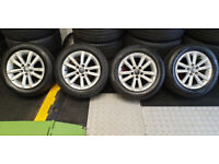 VW Polo Genuine 14 alloy wheels + 4 x tyres 185 60 14