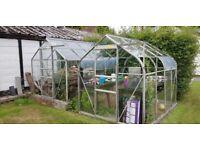 Glass & Aluminium Greenhouse (Sliding Door)
