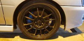 "Subaru Impreza 17"" OZ Super Leggera Alloy Wheels & Tyres 5X100"