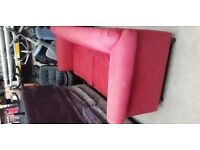 2 X Red 2 Seater Sofa's