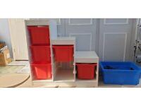 IKEA Trofast storage with 6x boxes