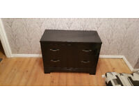 black 2 drawer chest of drawers