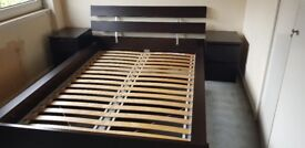 Ikea Double Bed and drawer set