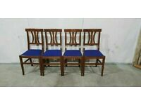 Pair of Solid Wood Dining Chairs No030424