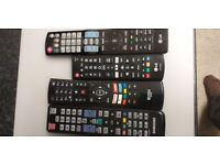 4 fully working smart Tv remote controls. As new. Samsung, LG, etc