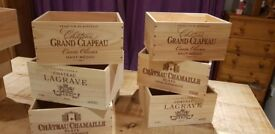 Genuine French Wooden Wine Boxes - Ideal Christmas Hampers / Christmas boxes storage boxes