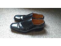 MENS Black leather DRESS SHOES